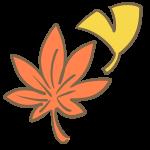 もみじといちょうの葉