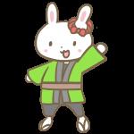 はっぴのウサギ
