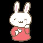 団子を食べるウサギの女の子