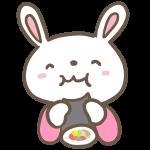 恵方巻を食べるウサギ
