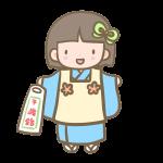 三歳の女の子(青)