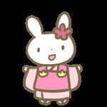 三歳の女の子(ウサギ)