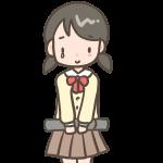 涙ぐむ女の子(ブレザー)