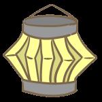 紙の提灯(黄)