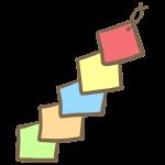 四角い色紙の飾り