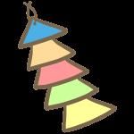 三角色紙の飾り