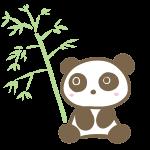 パンダと笹