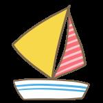 ヨット(赤)