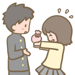 チョコを渡す女の子
