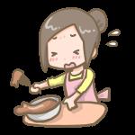 チョコを作る女の子(失敗)