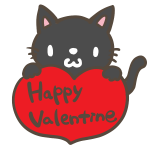 HappyValentine(黒猫)