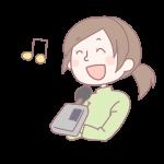 歌を歌う女性