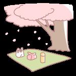 桜の木の下の場所