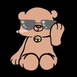 サングラスをした熊