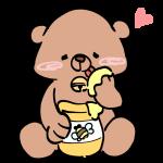 はちみつを食べる熊