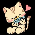 魚を食べるネコ