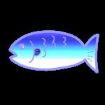 グラデーションの魚