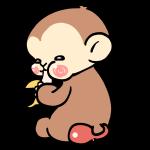 バナナを食べるサル