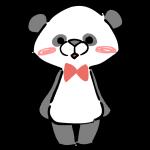 立つパンダ