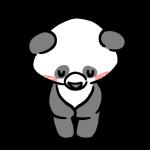 お辞儀をするパンダ