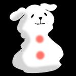 戌の雪だるま