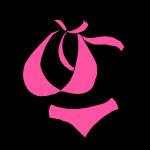 ピンクの水着