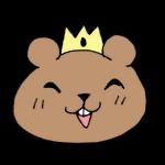 王冠をかぶるクマ