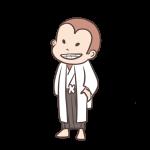 袴姿のサル