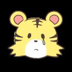 涙するトラ