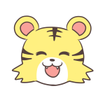 笑顔のトラ