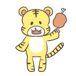 にくを持つトラ