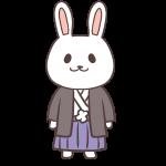 袴姿のウサギ