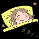 楽しみに眠る女の子