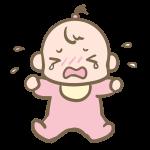泣く赤ちゃん(女の子)