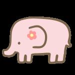 ゾウ(ピンク)