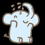 水浴びをするゾウ