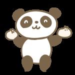 パンダと中華まん