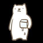 氷を持ったシロクマ
