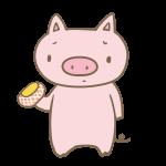 ハムを見て悲しむ豚
