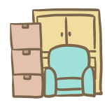 ダンボールと家具