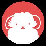 羊の顔のはんこ