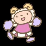 羊のチアリーダー(ピンク)