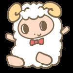 バンザイする羊