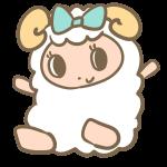 バンザイする羊(女の子)