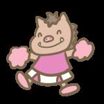 猪のチアリーダー(ピンク)