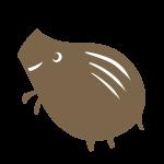 シンプルな猪(茶色)