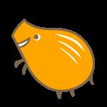 シンプルな猪(オレンジ)