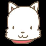 犬の顔(白)