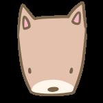 犬の顔(茶色)