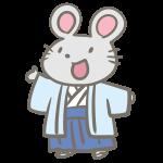ねずみの男の子(袴)